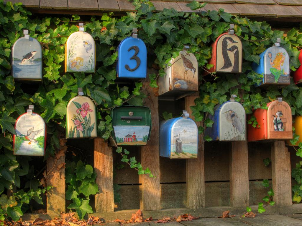 деревянные почтовые ящики фото